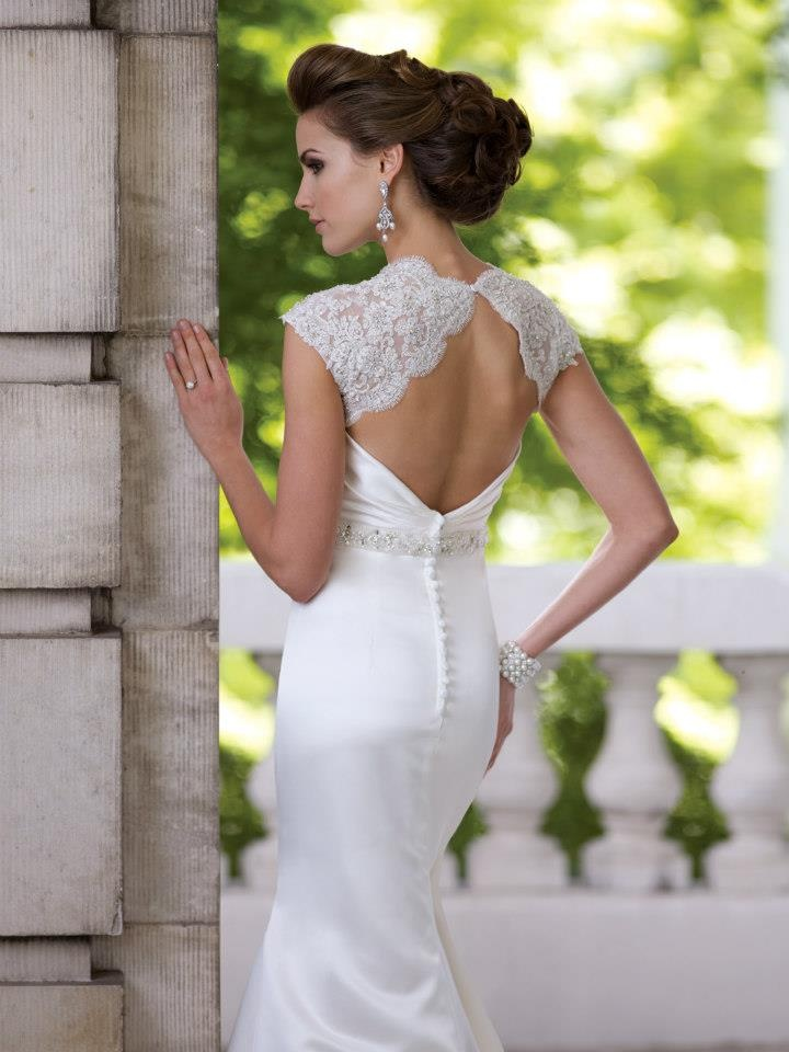 Amazing Back from Lace and Satin -David Tutera 113204