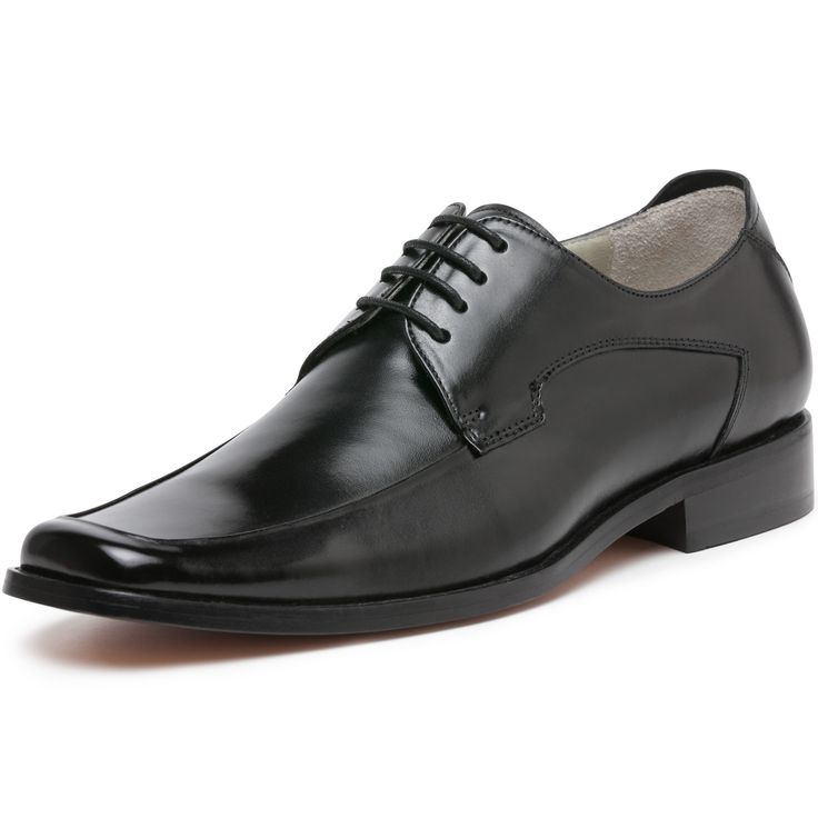 Florsheim Bogart is a contemporary business dress shoe with plug front  derby tie upper and square