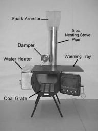 Wall Tent Stove with water heater