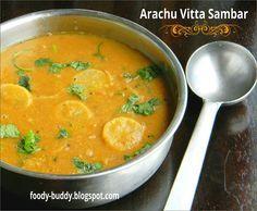 Arachuvitta Sambar - South Indian Recipe