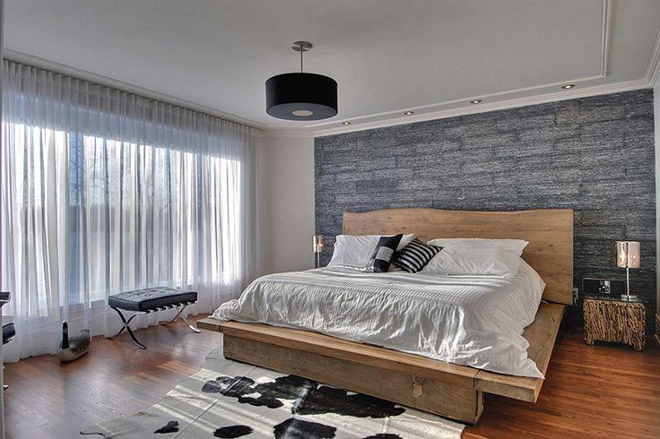 Un revêtement mural en pierre parfait pour ajouter un peu de texture et de cachet à votre chambre à coucher.