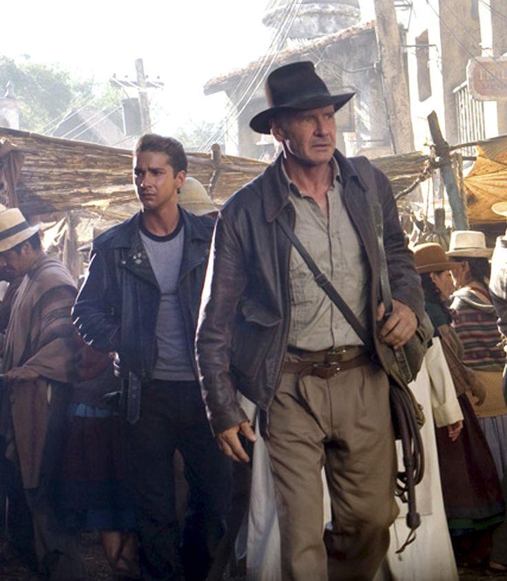 """Harrison Ford y Shia LaBeouf en """"Indiana Jones y el reino de la calavera de cristal"""" (Indiana Jones eo Reino da Caveira de Cristal), 2008"""