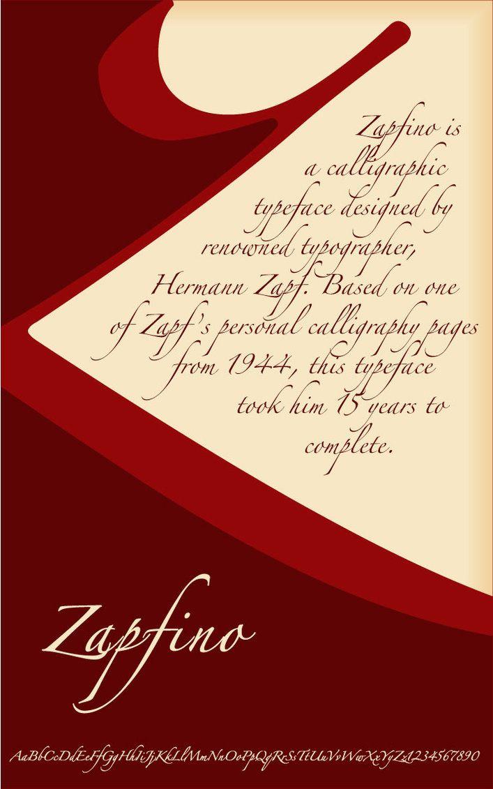 Zapfino Embroidery Design