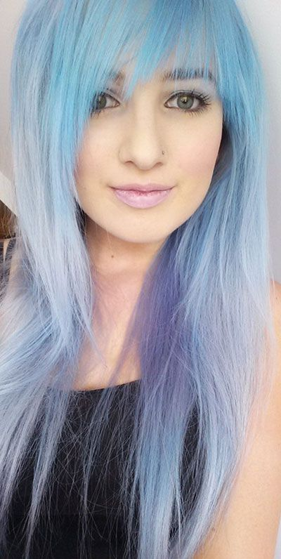styles for black hair 15 must see blue hairstyles pins dyed hair colored hair 1173