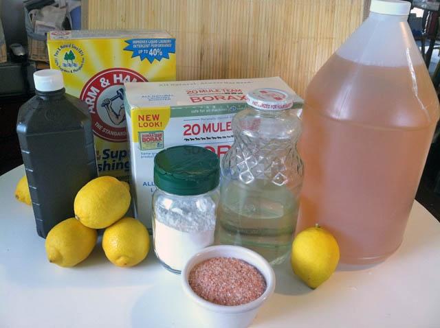 Natural cleaning materials- everything you need to clean the entire house