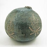 Junction Art Gallery - Yo Thom small rounded vase http://www.junctionartgallery.co.uk/artists/ceramics/yo-thom