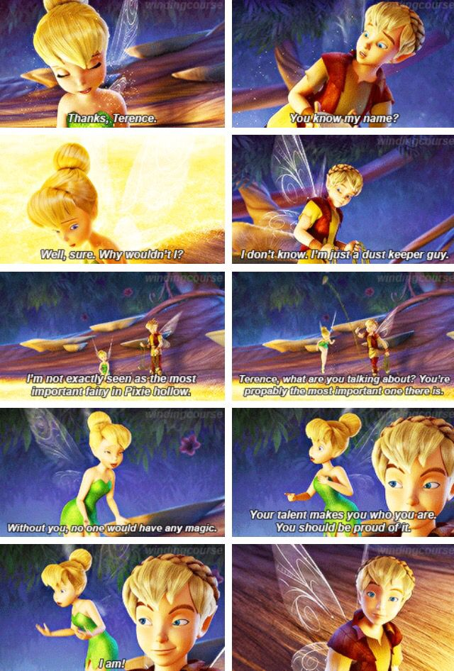 Tinkerence ❤️ I ship it so much I'm so annoyed that they're not making any more tinkerbell movies and even if they did, Terence is in them less as the movies go on and not even in the newest one!!