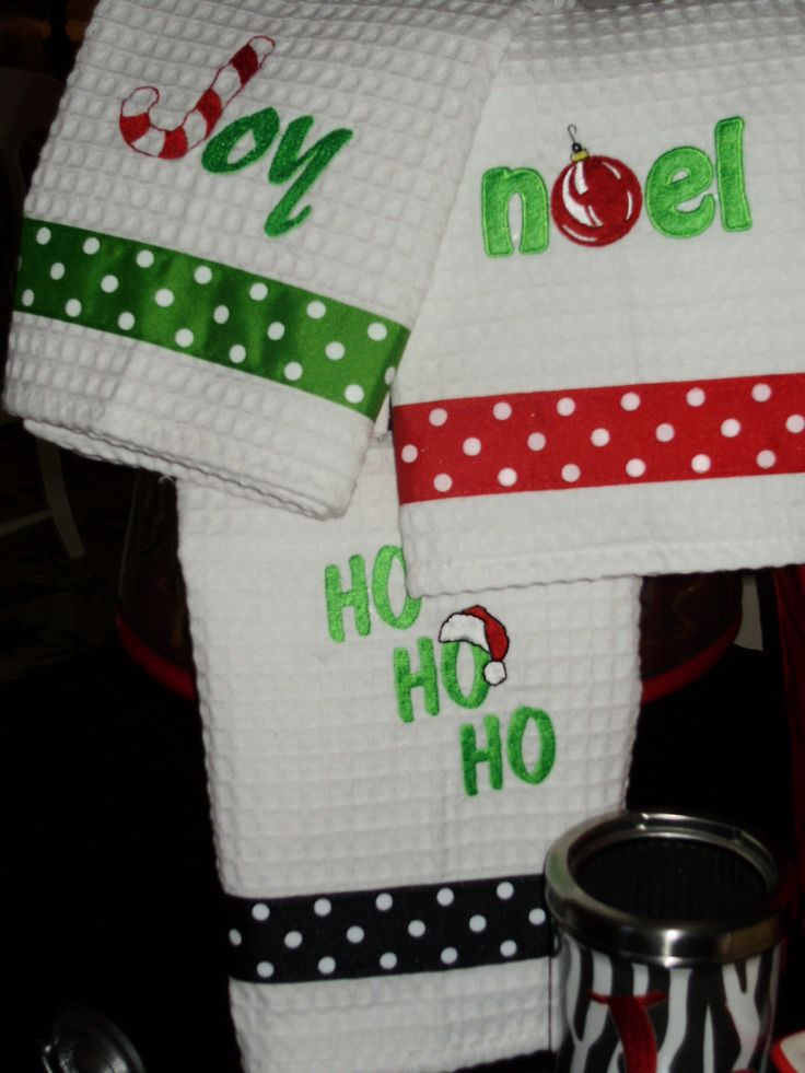 Christmas Hand Towels. $15.00, via Etsy.