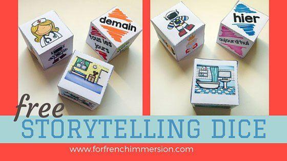 French Storytelling Dice