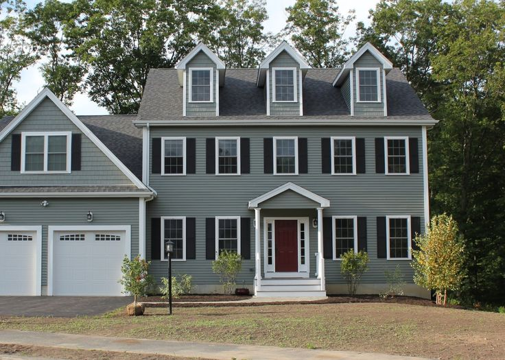 Green House With Red Door Front Yard Ideas Pinterest