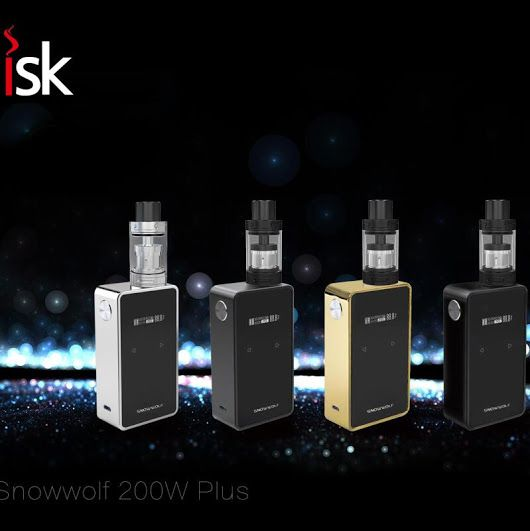 Sigelei SnowWolf 200W Plus TC Box Mod - The Sigelei Snow Wolf 200W Box Mod has a sleek design with a stainless steel frame and a black body. It features temperature control and the magnetic back makes it so easy to change the two 18650 batteries. – Urban Vape Store