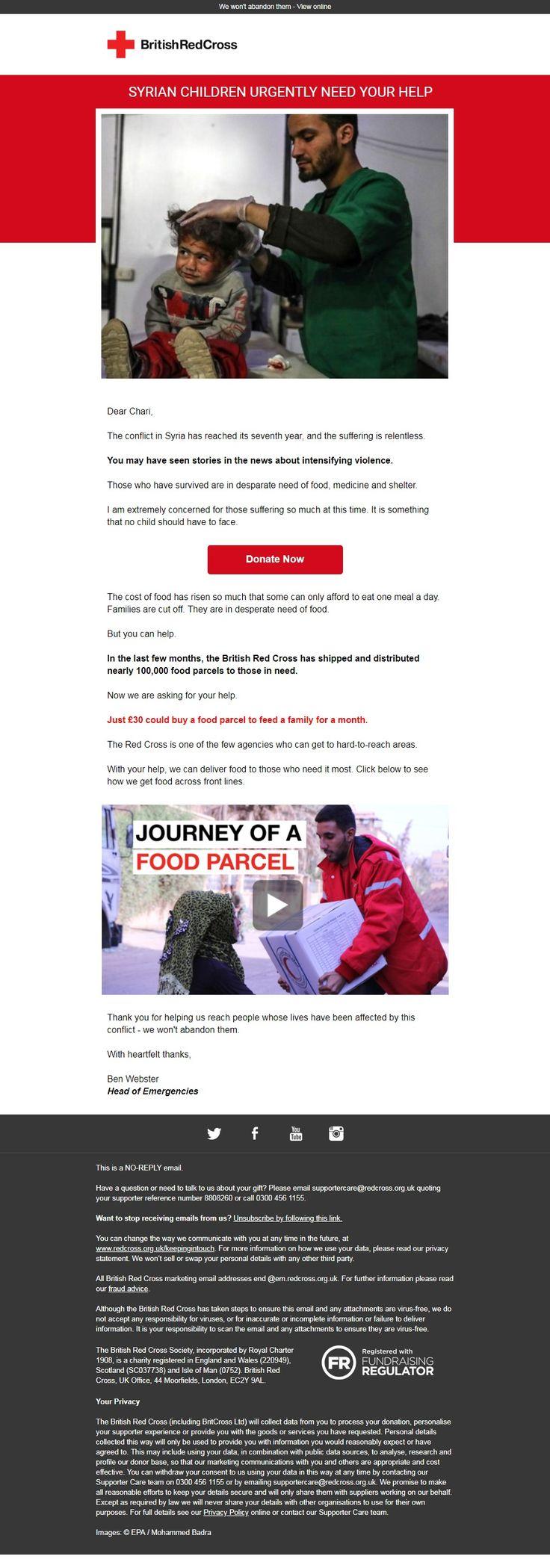British Red Cross: Syrian Children urgently need your help Chari