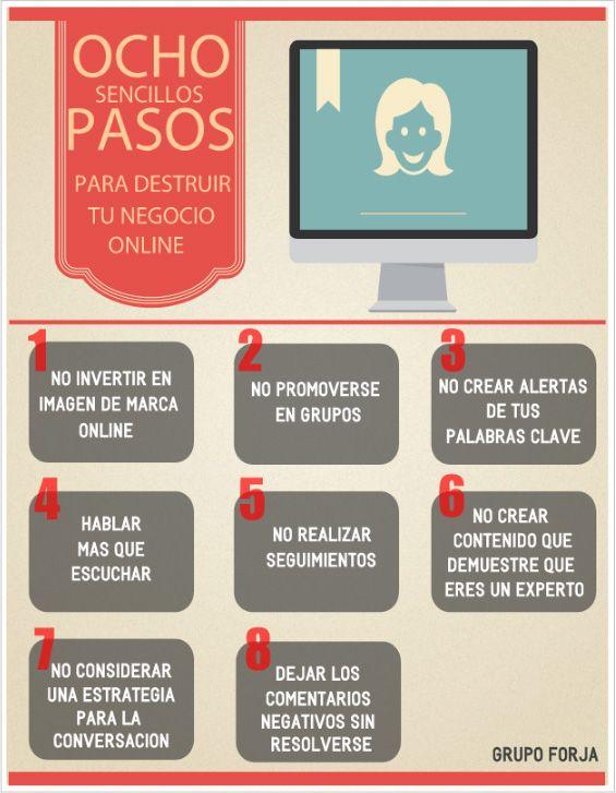 8 pasos para cargarte tu negocio online #infografia