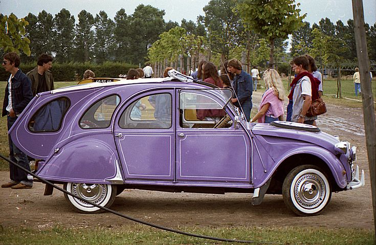 purple citroen  french car  u2022 citroen 2cv