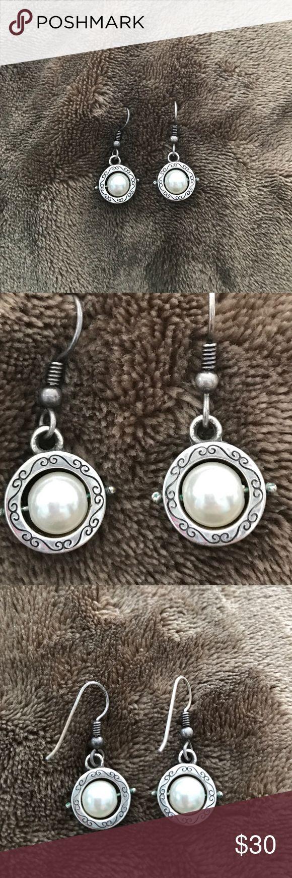 Brighton Pearl Drop earrings Wire back Pearl Drop earrings from Brighton. Timeless style Brighton Jewelry Earrings