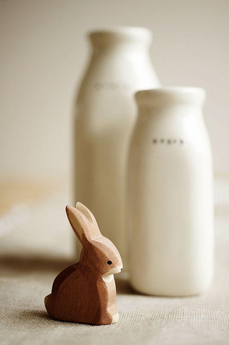 Sweet wooden bunny