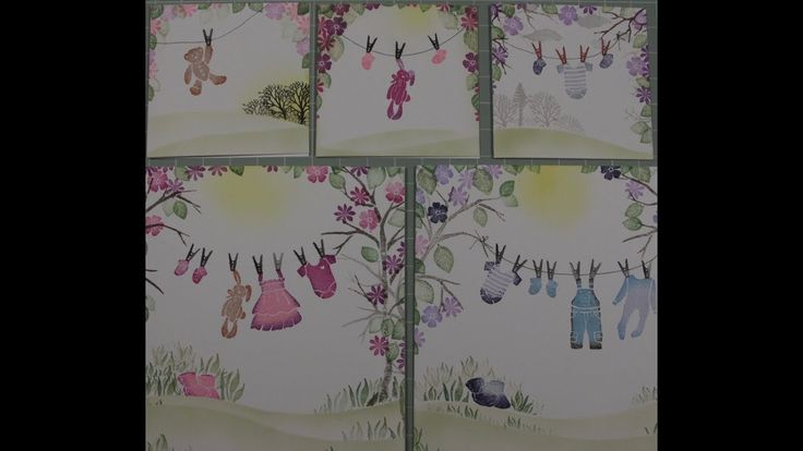 Card-io Cards - Baby Washing Lines