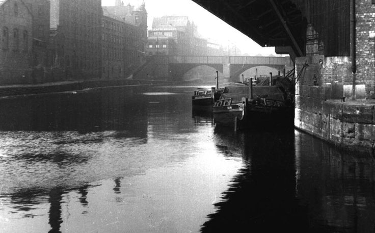 The Medlock where it meets the Irwell at Castlefield