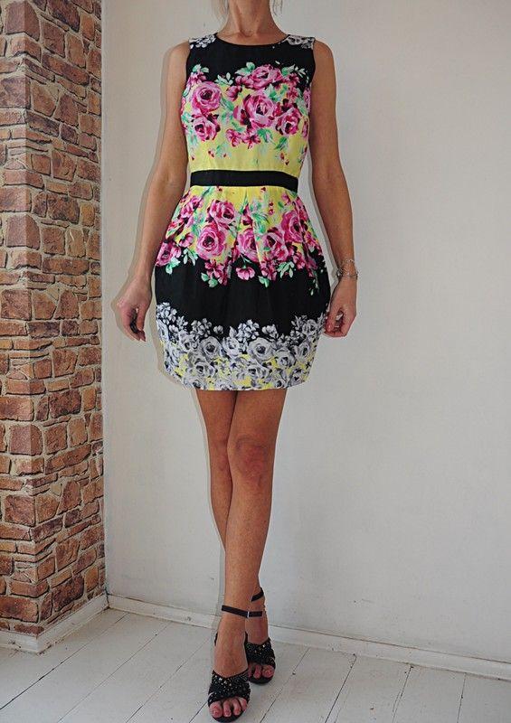 Atmosphere Sukienka Czarna W Kwiaty 38 40 Vinted Dresses Fashion Halter Dress