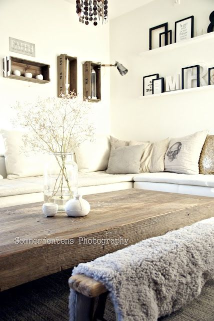 coffee table and linen