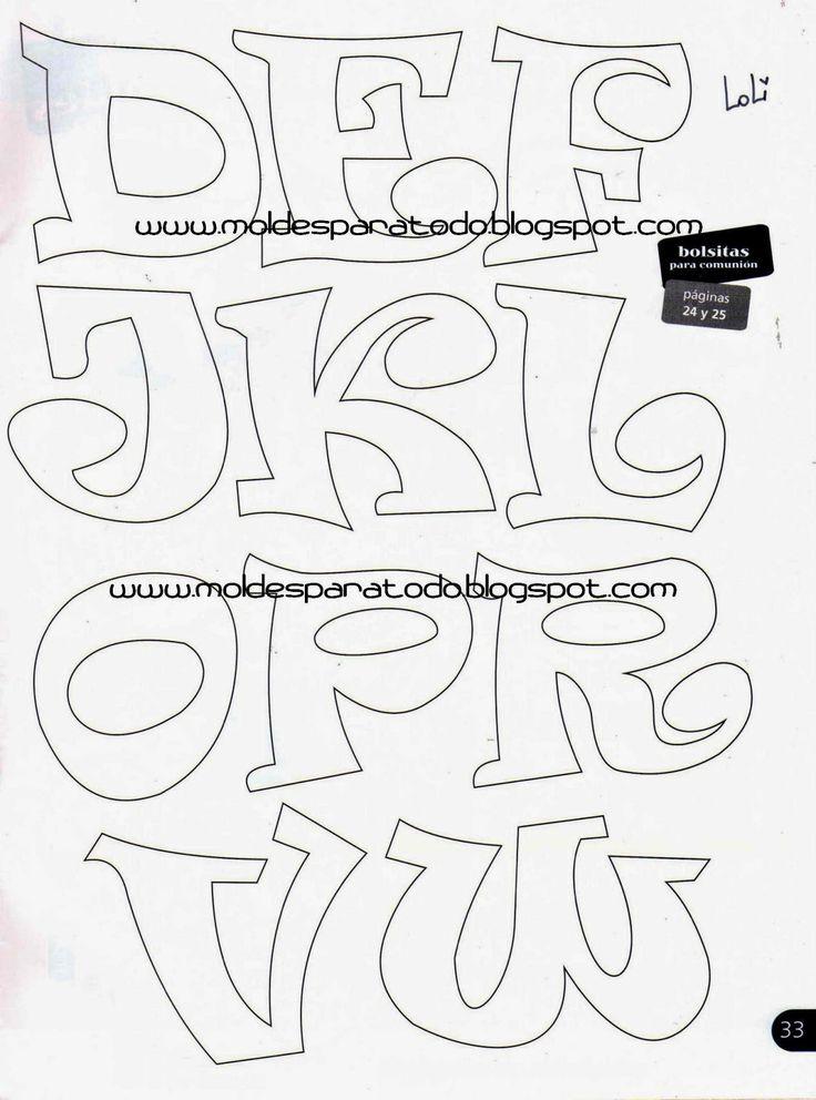 Moldes para Todo: *♥* Letras