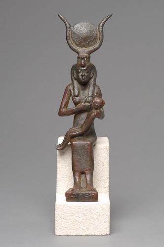 Göttin Isis mit Harpokrates