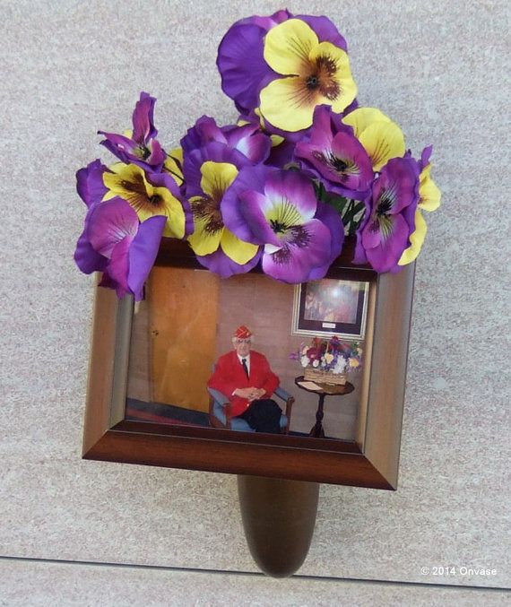 Personalize your loved one's cemetery grave, monument, crypt or memorial with a photo or similar decoration of your choosing with an Onvase.