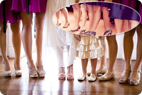 Bridesmaid shoes with purple dresses