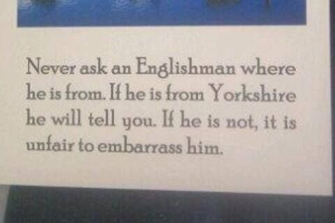 The Yorkshire Man. - For more funny photos relating to Yorkshire, please visit our website on: www.imfromyorkshire.com
