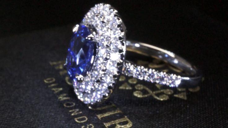 Sapphire and diamond ring by McGuire Diamonds