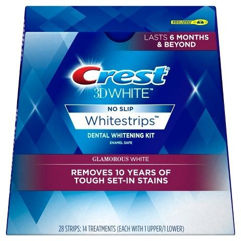 Crest 3D White Luxe Whitestrips Glamorous White Teeth Whitening Kit - 14 Treatments // As seen in Allure, June 2016, pg. 84