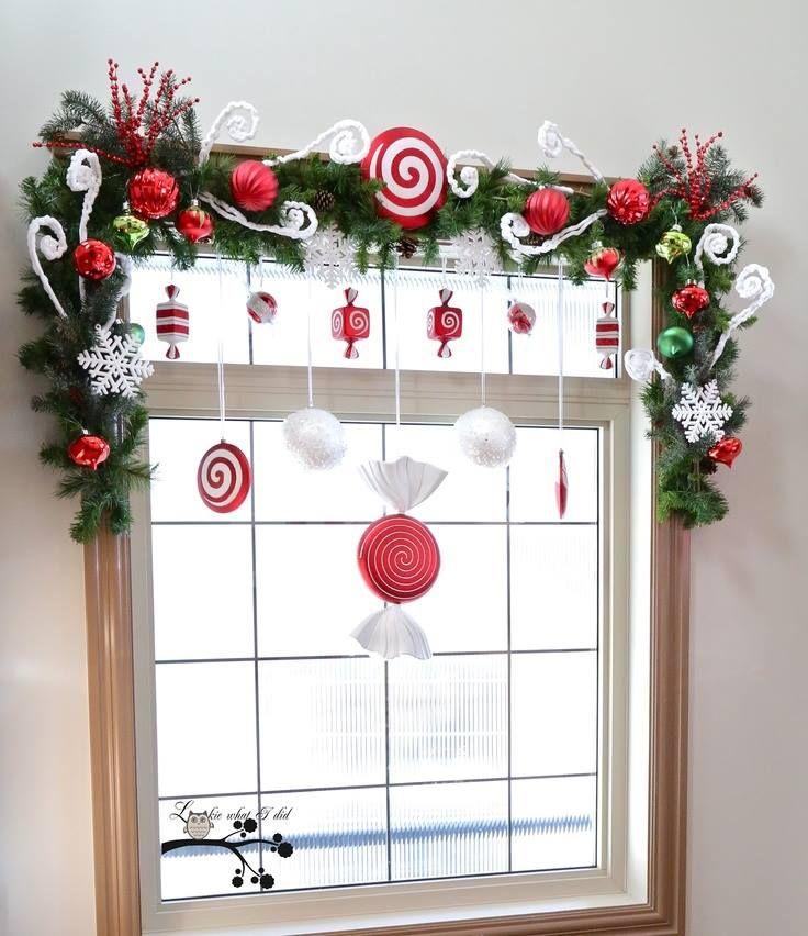Świąteczne dekoracje okien