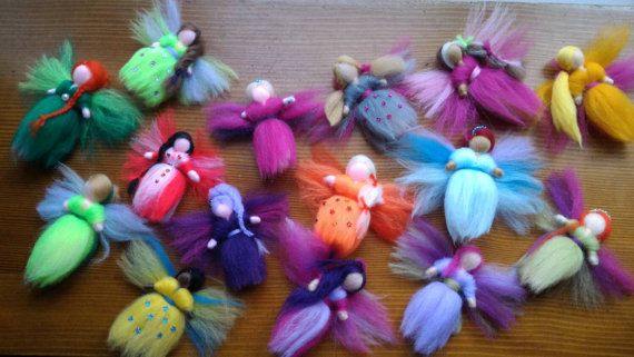 Hair clip with wool fairy tale