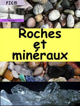 """French ImmersionALL the VOCABULARY and PICTURES you need in one resource written for late primary or early junior students in mind. The vocabulary is at their level!Use these flashcards and activity as part of your unit on  """"Les roches et minraux""""!This resource includes 38 colourful slides of flashcards about the essential vocabulary of rocks and minerals."""