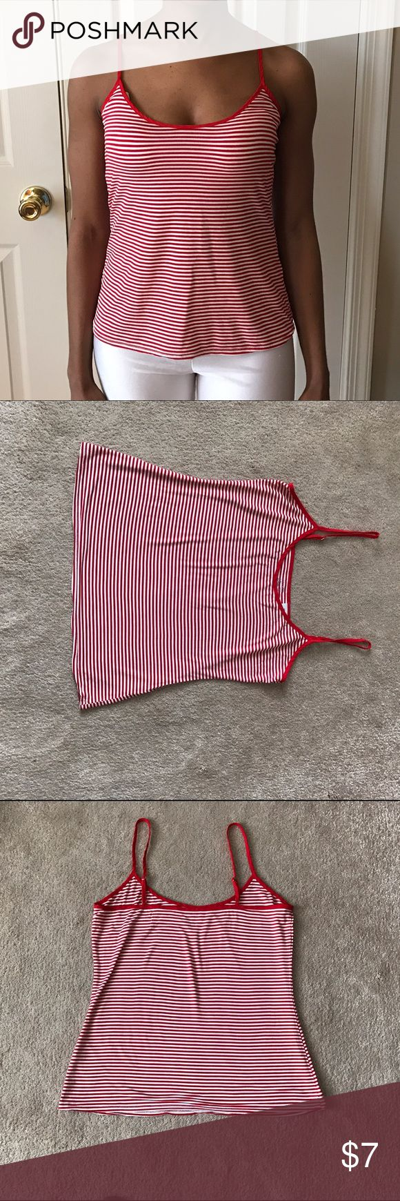 """J Crew Whisper Jersey Cali in Stripe There has never been a more comfortable tank. Look cute and comfy on a night in with your boo. I'm 5'4, 114lbs for size info. Worn a couple times. Perfect condition. From J Crew: """"Drapey fit. 15 3/4 body length. Our new fabric is whisper soft and super-drapey. With an easy fit and silky straps, this is the top you can't wait to change into the second you walk in the door (Netflix binges and lazy Sundays, we're looking at you).  Rayon/spandex. Machine…"""