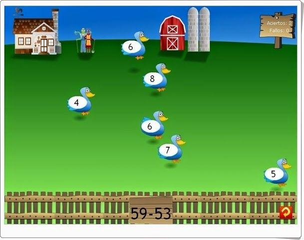 http://www.vedoque.com/juegos/granja-matematicas.html. Aprender las sumas de una manera activa  y participativa