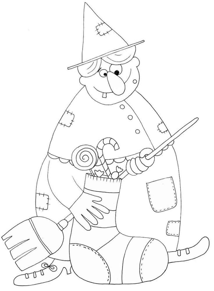 Befana coloring page