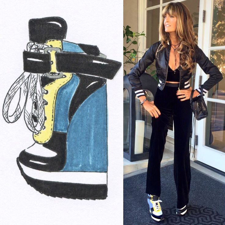 From Ruthie Davis sketch to designer Ruthie Davis foot! Loving my collaboration with Minions! #ruthiedavisXminions
