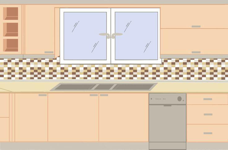 Κουζίνα γωνιακή σχέδιο Β