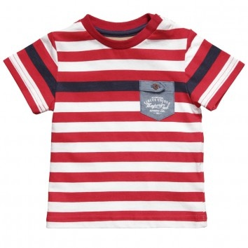 Mayoral Baby Boys Red & White Cotton T-Shirt