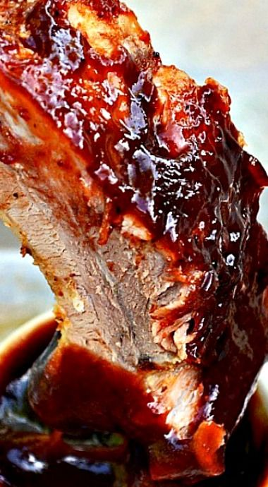 Oven Baked Barbecue Pork Ribs - about as good as they come; tender, juicy meat slow cooked in the oven and then broiled to perfection. ❊