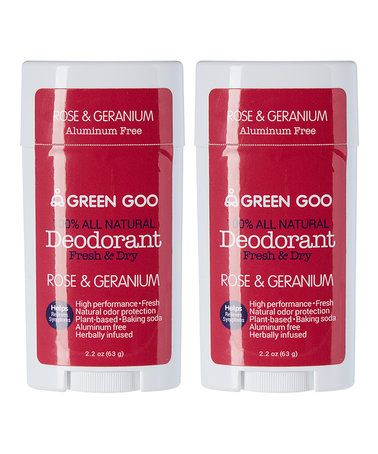 Rose & Geranium Deodorant Oval Stick - Set of Two #zulily #zulilyfinds