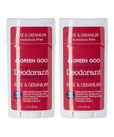 Rose & Geranium Deodorant Oval Stick - Set of Two #zulily #zulilyfinds