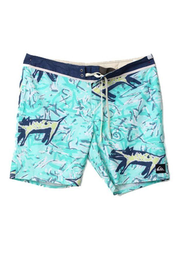 Quiksilver Celana Pantai Original Motif - Biru Muda - Int:36