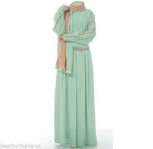 Abaya dubai Jilbab muslim women lady arabic islamic cloth dress Elegant Office