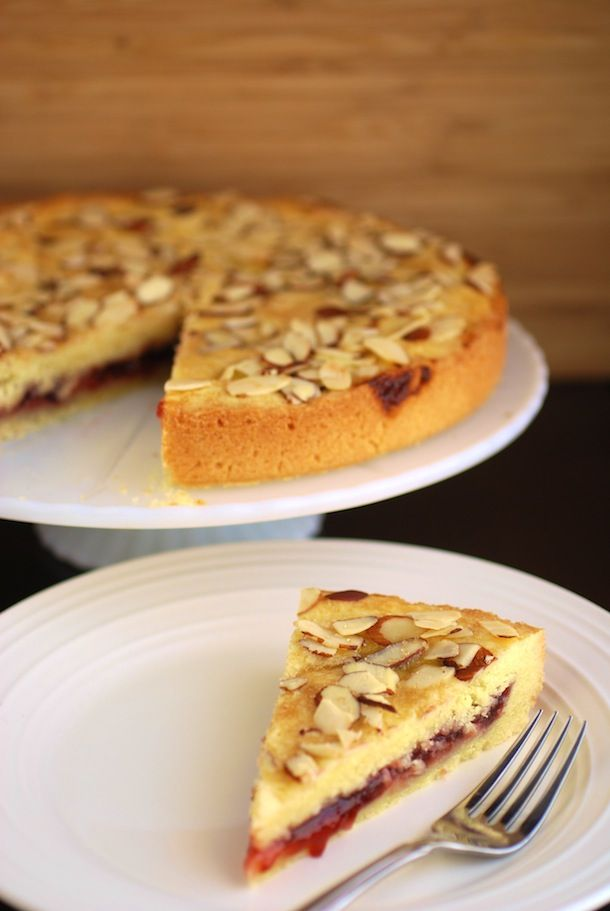 Almond Raspberry Shortbread Cake | Always Order Dessert