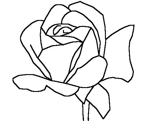 simple rose outline for fabric print Art printmaking