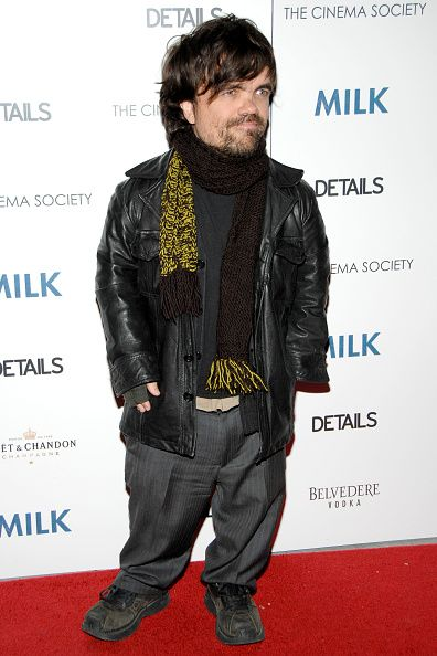Peter Dinklage attends THE CINEMA SOCIETY DETAILS host a screening of 'MILK' at Landmark Sunshine Theater on November 18 2008 in New York City