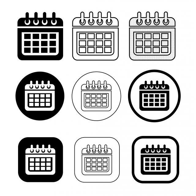 التقويم اليوم التاريخ الشهر خطة تذكير عنصر الوقت دال جدول الأعمال الأعمال الصفحة تعيين اجتماع منظم عدد ورقة شق Calendar Icon Sign Design Calendar Vector Icon