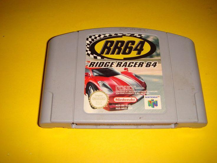 juego nintendo 64 RR64 ridge racer 64 nintendo